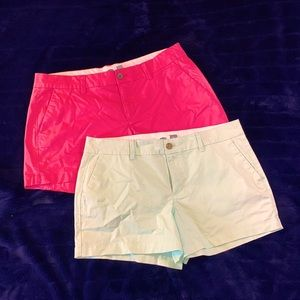 """OLD NAVY SHORTS. HOT PINK & MINT GREEN. 4"""" INSEAM"""